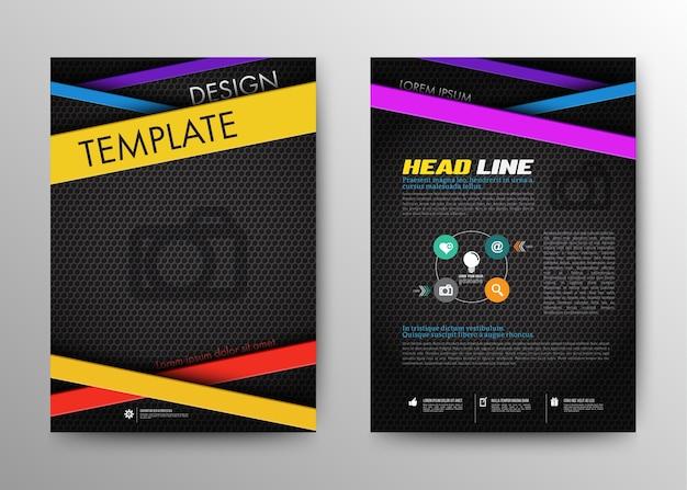 Brochure astratta flyer modello di disegno vettoriale in formato a4.