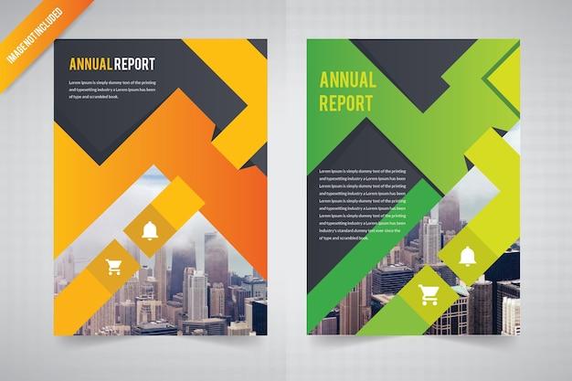 Modello astratto di opuscolo per relazione annuale