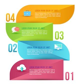 Modello astratto di opzioni di infographics di affari.