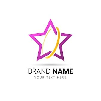 Modello astratto di disegno del logo di affari