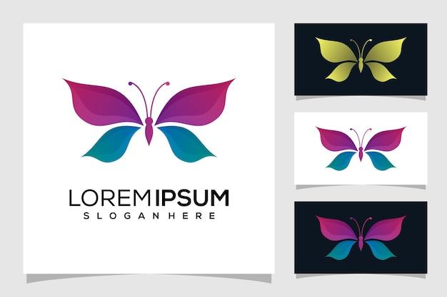 Illustrazione di logo farfalla astratta