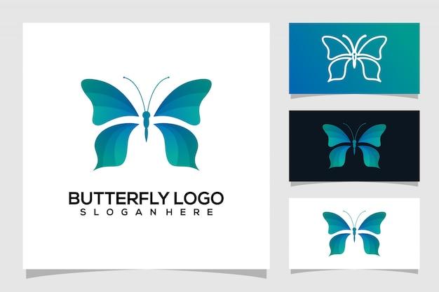 Logo farfalla astratta