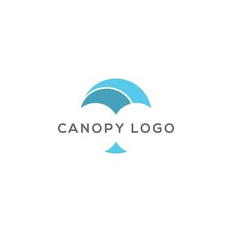 Canopy abstract logo design vector