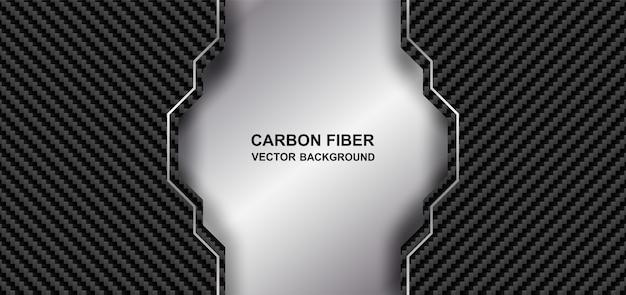 Astratto. sfondo in fibra di carbonio. fibra di carbonio nera e argento si sovrappongono sullo sfondo. luce e ombra.