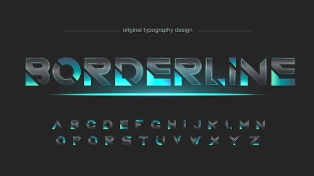 Tipografia futuristica astratta in fibra di carbonio