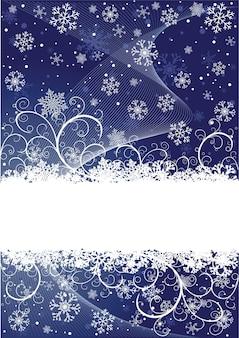 Sfondo astratto di natale con fiocchi di neve e posto per il testo