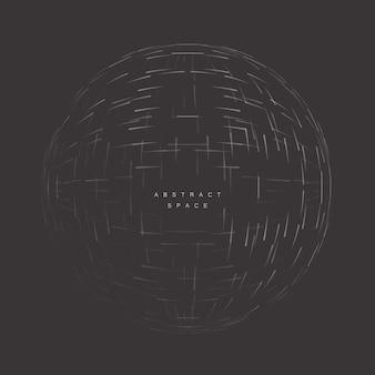 Cerchio astratto 3d nello spazio vuoto forma futuristica