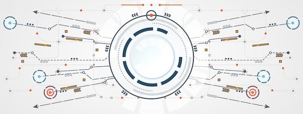 Circuito del cerchio astratto