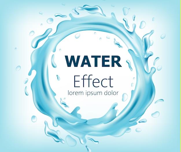 Cerchio astratto di acqua corrente. posto per il testo. realistico