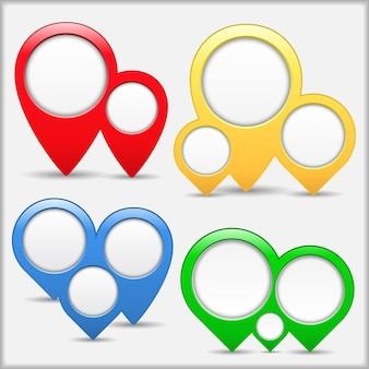 Cerchio astratto in puntatori, illustrazione