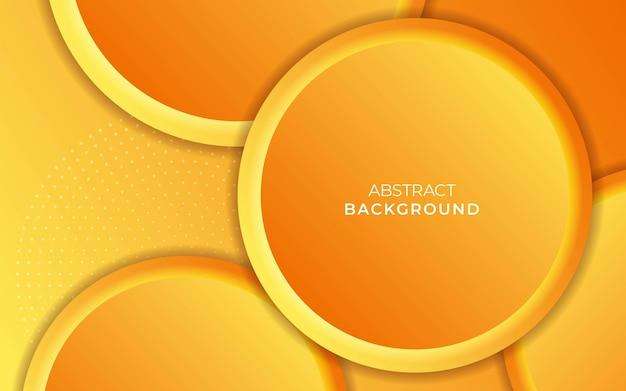 Fondo astratto di vettore di pendenza del cerchio giallo.
