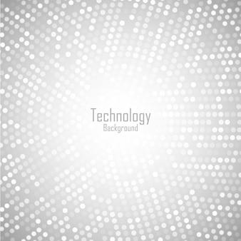 Astratto sfondo grigio chiaro circolare. modello di pixel del cerchio digitale di tecnologia.