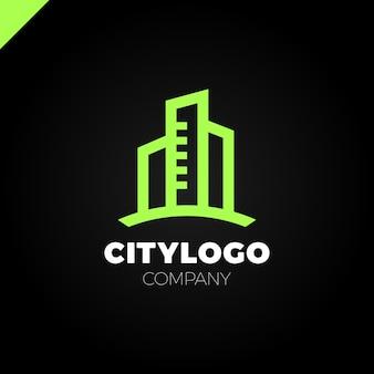 Città astratta costruzione logo design