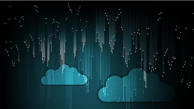 Fondo astratto di tecnologia della nuvola nella rete di internet. eps 10