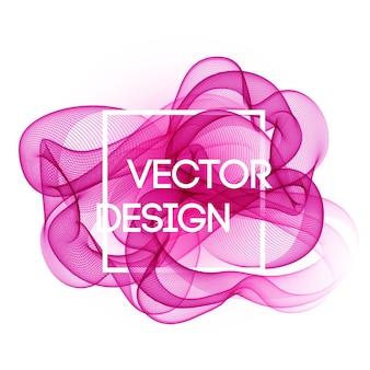 Sfondo di linee curve di colore astratto. design brochure modello