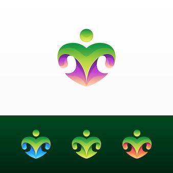 Logo e variazioni astratti di colorfu