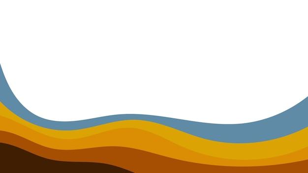 Fondo variopinto astratto delle onde di colore. modello per volantino, copertina o banner