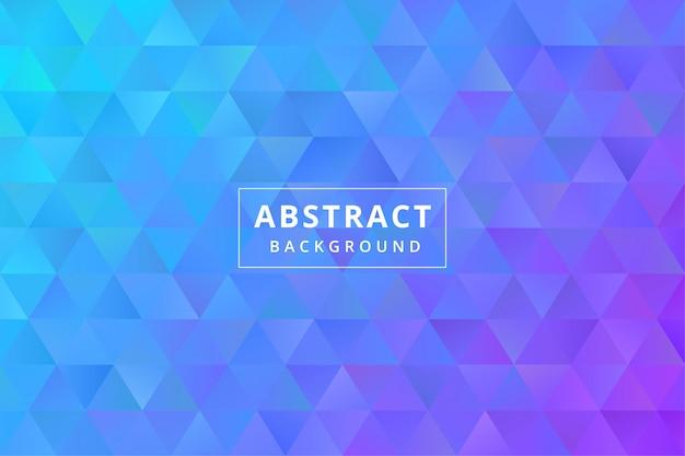 Sfondo colorato astratto con forma poligonale triangolo poligonale vettore premium