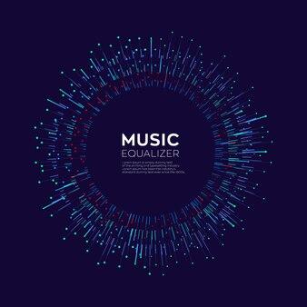 Equalizzatore di musica digitale colorato astratto