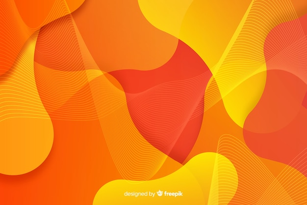 Sfondo di forme di flusso colorato astratto Vettore Premium