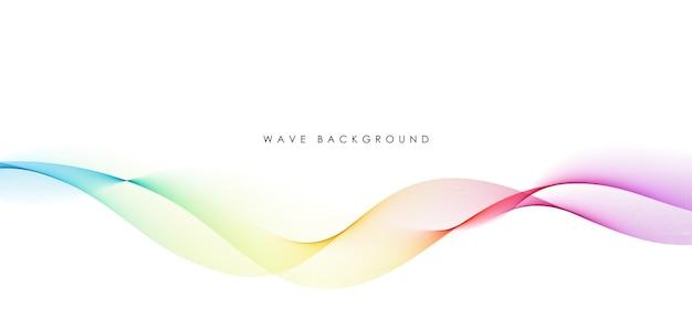 Linee d'onda fluenti colorate astratte isolate