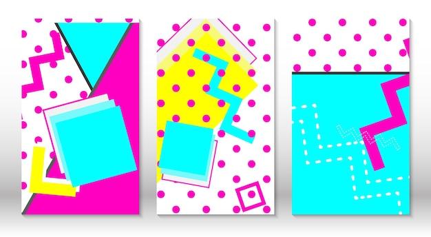 Astratto sfondo colorato divertente stile hipster gli elementi degli anni '80-'90.