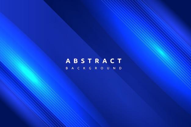 Gradint colorato astratto blu con sfondo di forma semplice Vettore Premium