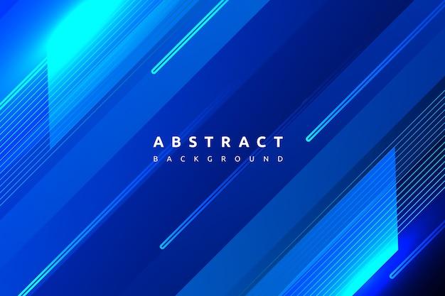 Gradint colorato astratto blu con sfondo di forma semplice