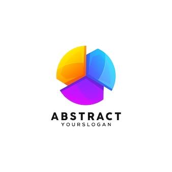 Modello di progettazione logo colorato astratto
