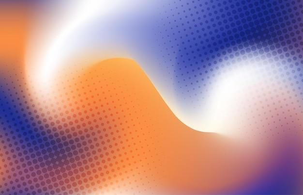 Design a rete colorato astratto con modello di stile mezzitoni punti. copertina centrale per lo sfondo del poster. illustrazione vettoriale