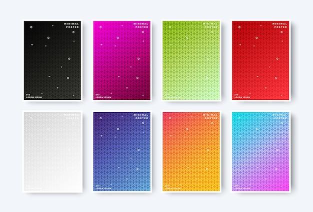 Copertine minime colorate astratte