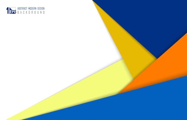 Carta colorata astratta tagliata opera d'arte di design dello spazio di copertura. decorare con lo sfondo del modello in stile ombra. illustrazione vettoriale
