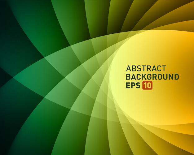 Linee luminose colorate astratte torsione liscia vettoriale sfondo.