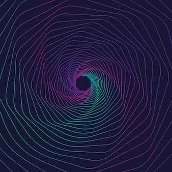 Spirale astratta e colorata