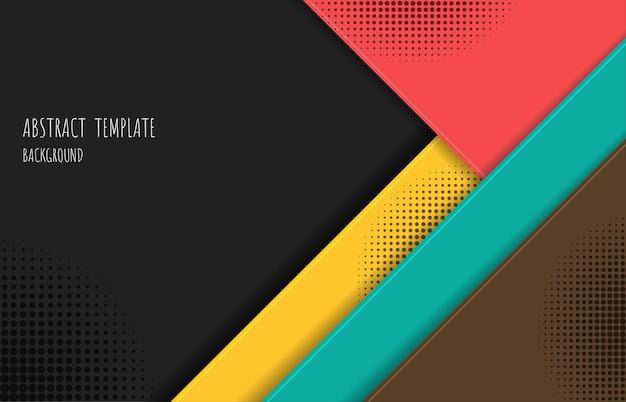 Disegno del modello colorato astratto con modello decorativo mezzitoni nero. sovrapposizione con sfondo di strati di triangoli. illustrazione vettoriale