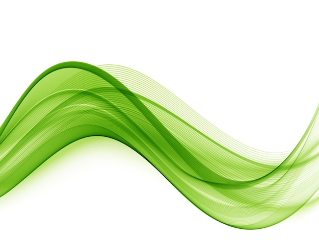 Onda trasparente colorata astratta onda verde