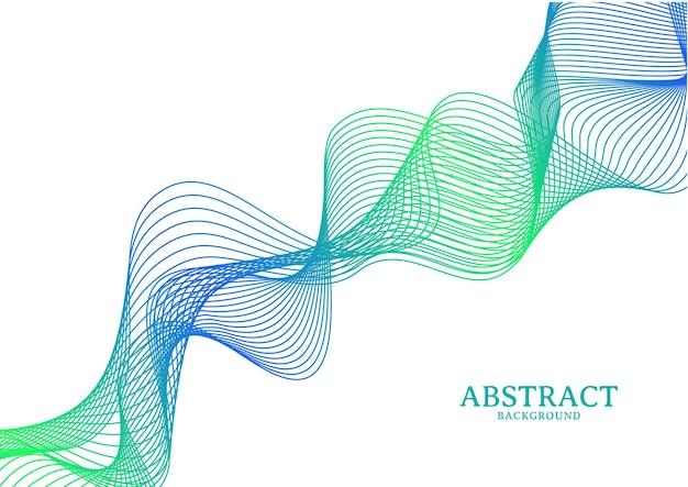 Linea ondulata colorata astratta che scorre sullo sfondo, linea d'onda sullo sfondo isolato su sfondo bianco