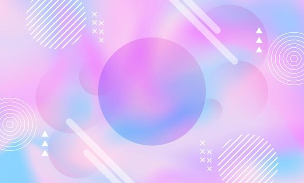 Astratto colorato con sfondo elemento memphis illustrazione vettoriale