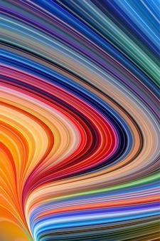 Linea astratta colorfull onda tecnologia swril