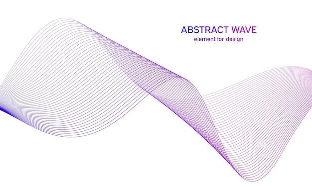 Onda astratta colorata. onda con linee. linea ondulata curva, striscia liscia