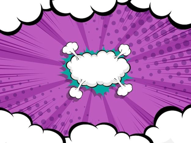 Fumetto astratto, fondo dell'illustrazione di vettore della bolla di discorso del fumetto di pop art