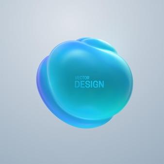Composizione astratta con bolla morbida 3d
