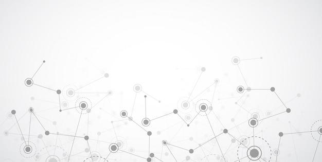 Punti e linee di collegamento astratti. scienza della connessione