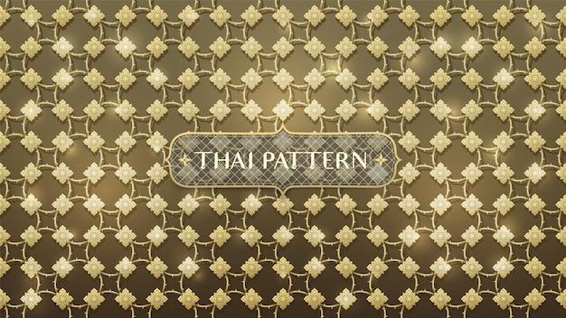 Modello tailandese dell'oro di collegamento astratto
