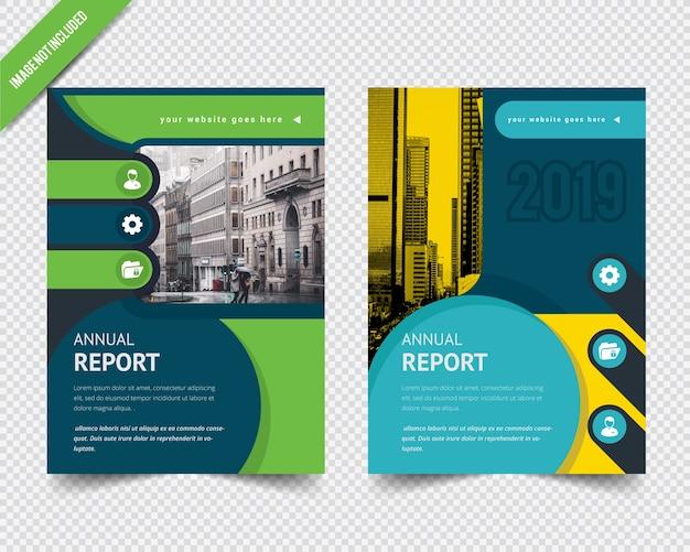 Modello di brochure aziendale astratto