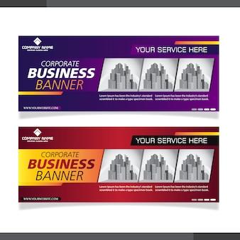 Raccolta astratta della bandiera di affari corporativi