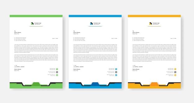 Modello astratto di disegno di carta intestata aziendale aziendale