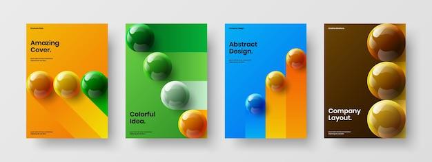 Pacchetto di illustrazioni vettoriali di design a4 con copertina aziendale astratta