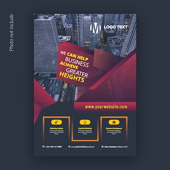 Modello di disegno astratto corporate flyer