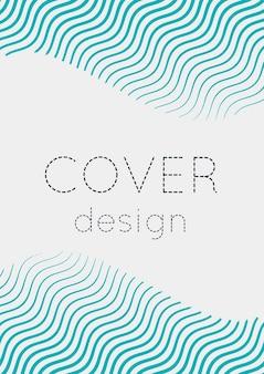 Copertina astratta. modello geometrico futuristico per banner, poster, flyer, brochure. layout minimale alla moda con sfumature di mezzitoni. illustrazione astratta di env 10. cover colorata minimalista.